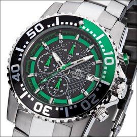 Firefox Watches  ZION Chronograph schwarz/grün