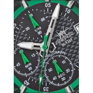 Firefox Watches  FIREFOX ZION Stainless Steel Chronograph 10 ATM / green / FFS17-108b