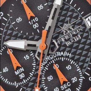 Firefox Watches  Firefox ZION Stainless Steel Chronograph 10 ATM / orange FFS17-107b