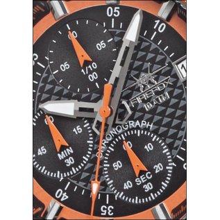 Firefox Watches  Firefox ZION Stainless Steel Chronograph 10 ATM / orange FFS17-107b