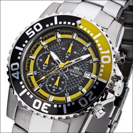 Firefox Watches  ZION Stainless Steel Chronograph 10 ATM / yellow / FFS17-109b