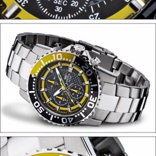 Firefox Watches  Firefox ZION Stainless Steel Chronograph 10 ATM / yellow / FFS17-109b