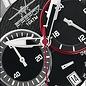 Firefox Watches  Edelstahl Chronograph SKYWOLF, 10 ATM / schwarz-rot