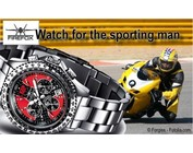 Racer Stainless Steel Chronograph