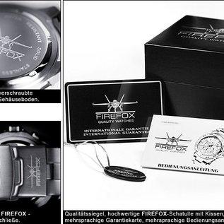 Firefox Watches  RACER Edelstahl Chronograph Armbanduhr 10 ATM / schwarz-rot