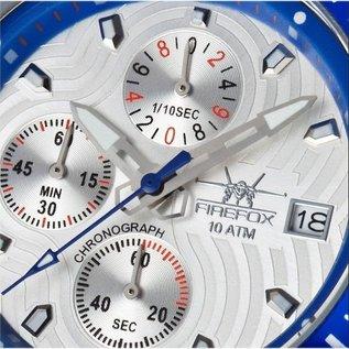 Firefox Watches  Fliegeruhr - ChronographHerrenuhr, Blatt silber/blau