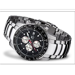 Firefox Watches  FIREFOX Aviator Chronograph Dial black / silver