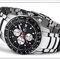 Firefox Watches  Fliegeruhr - Chronograph Zifferblatt schwarz / silber