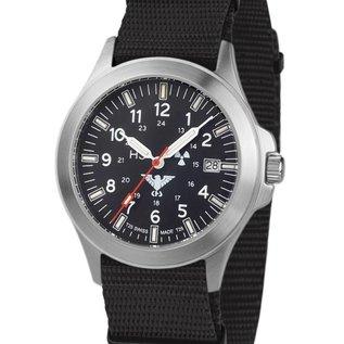 KHS Tactical Watches KHS Platoon H3 Titan Einsatzuhr -Natoband Black