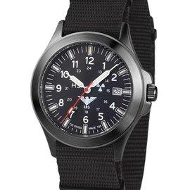 KHS Tactical Watches Black Platoon H3 Titan Einsatzuhr - Natoband