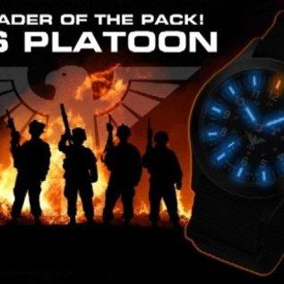 KHS Tactical Watches Black Platoon H3 Titan - Nato strap