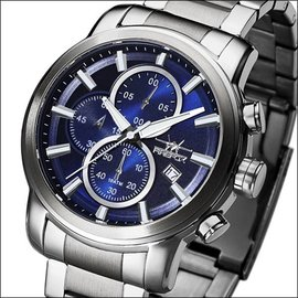 Firefox Watches  Edelstahl Chronograph 10 ATM/100Meter, sunray blau
