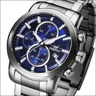 Firefox Watches  FIREFOX Edelstahl Chronograph 10 ATM/100Meter FFS215-103 sunray blau