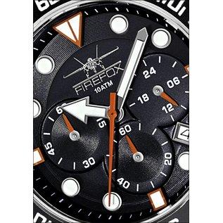 Firefoxuhren Firefox Mens Watch ABS Stainless Steel Chronograph, 100 meters / FFS235 -102 black