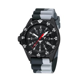 KHS Tactical Watches Militäruhr KHS Shooter mit Diverband in Camouflage Grey