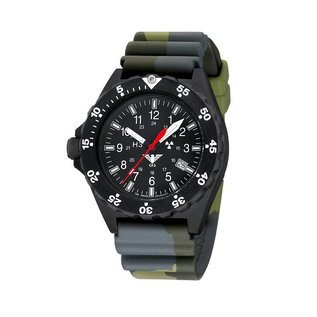 KHS Tactical Watches KHS Shooter with Diver Strap Camouflage Olive