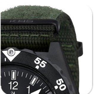 KHS Tactical Watches KHS H3 Militäruhr mit Natoarmbandband X|TAC Oliv ( Patches)
