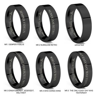 KHS Tactical Watches Tungsten Carbide Rings Black US Army Special Forces