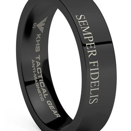 KHS Tactical Watches Tungsten Carbide Rings Black | SF