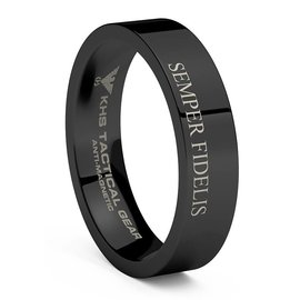 KHS Tactical Watches Wolframcarbit Ring Black SF