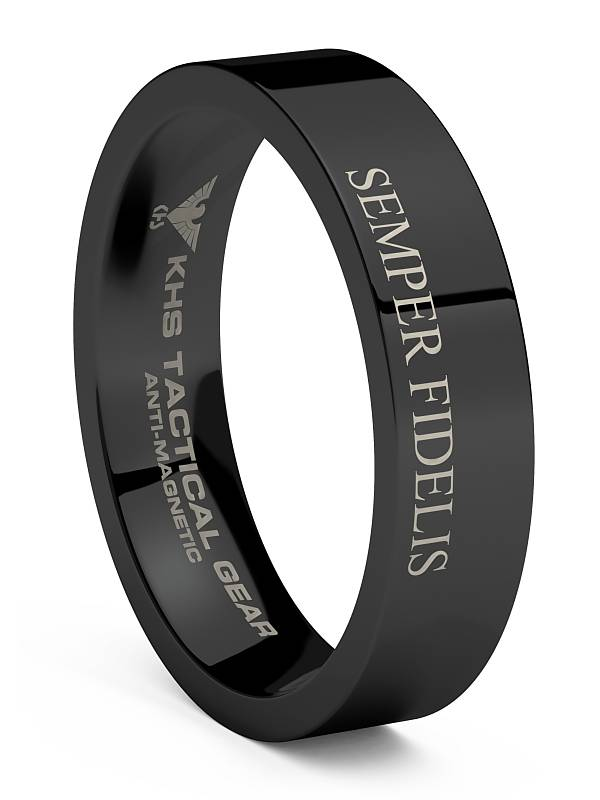 KHS Tactical Watches Tungsten Carbide Rings Black US Marine