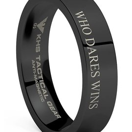 KHS Tactical Watches Tungsten Carbide Rings Black | WDW