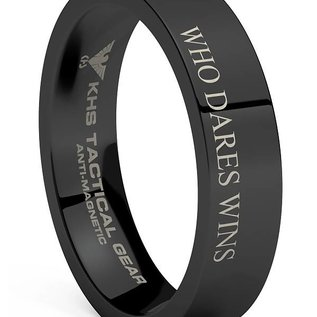 KHS Tactical Watches Wolframcarbit Ring Black | WHO DARES WINS | SAS