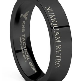 KHS Tactical Watches Tungsten Carbide Rings Black | NR