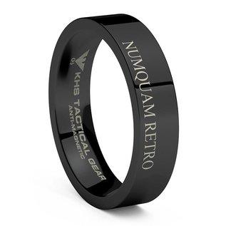 KHS Tactical Watches Wolframcarbit Ring Black | NUMQUAM RETRO | Austrian Jagdkommandos