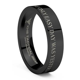 KHS Tactical Watches Tungsten Carbide Rings Black | OEDWY