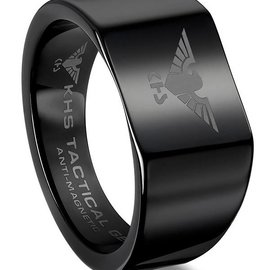 KHS Tactical Watches Wolframcarbit Ring Black Eagle