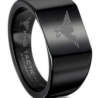 KHS Tactical Watches Tungsten Carbide Rings Black Eagle armywatcheu