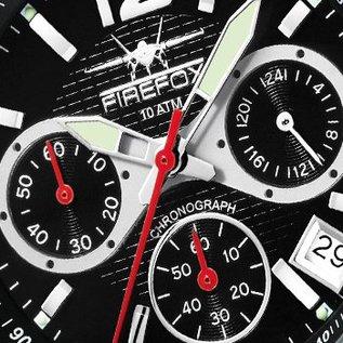 Firefox Watches  SILVER SURFER Firefoxuhr Pilot Watch Chronograph
