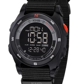 KHS Tactical Watches Sentinel DC Alarm Chronograph Nato Black
