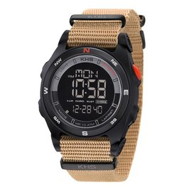 KHS Tactical Watches Sentinel DC Black Nato Strap TAN