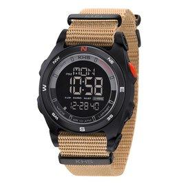KHS Tactical Watches Sentinel DC Black Nato Strap TAN