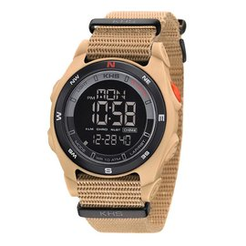 KHS Tactical Watches Sentinel DC TAN Alarm Chronograph Nato TAN