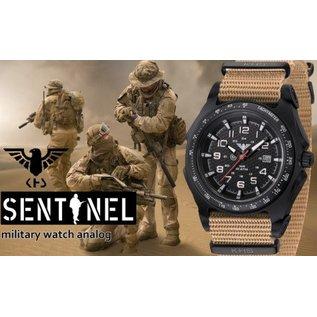 KHS Tactical Watches KHS Sentinel - A - Black  Nato Strap Tan |  KHS.SEAB.NLT