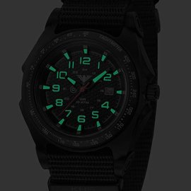 KHS Tactical Watches Sentinel -A- Black Nato Strap Black