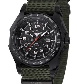 KHS Tactical Watches Sentinel -A- Black Nato Strap Oliv