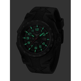 KHS Tactical Watches Sentinel -A-Black with Rubber Strap Black | KHS.SEAB.S