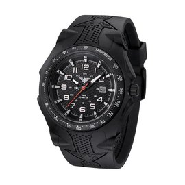 KHS Tactical Watches Sentinel -A- Black Rubber Strap Black