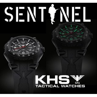 KHS Tactical Watches Sentinel A mit Silikonband Black | KHS.SEAB.S