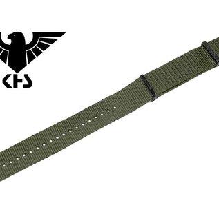 KHS Tactical Watches Nato Uhrenarmband Olive | IP beschichtet | KHS Bänder| 24 mm