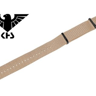 KHS Tactical Watches KHS Nato watch strap TAN | black IP coated | KHS bands