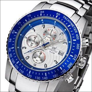 Firefox Watches  FIREFOX Aviator Chronograph Dial silver / blue