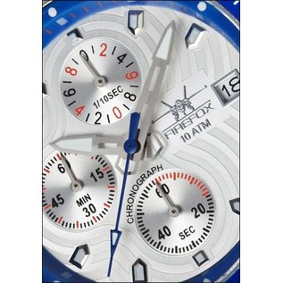 Firefox Watches  FIREFOX Aviator Chronograph Dial silver / blue