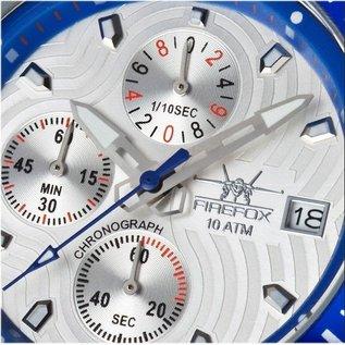 Firefox Watches  Fliegeruhr -Firefox  ChronographHerrenuhr, Blatt silber/blau