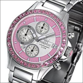 "Firefox Watches  Firefox Damen Chronograph "" Pink  Lady """