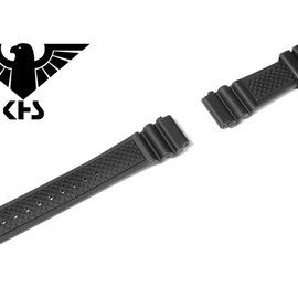 KHS Tactical Watches Original KHS Replacement Wristband | Diver Band | Black 20 mm
